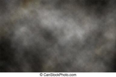 암흑, 연기, 배경