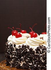 암흑, 케이크, 검은 숲, 배경