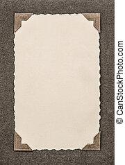 앨범, 스타일, frame., 사진, retro, 구석, 카드