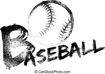 야구, grunge, 줄