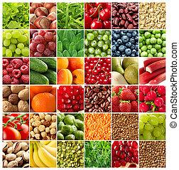 야채, 배경, 과일