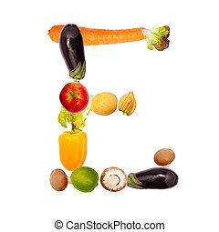 여러 가지이다, 야채, e, 편지, 과일