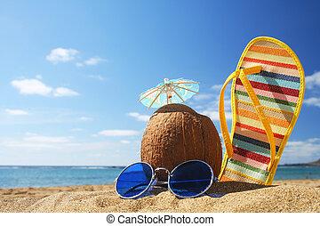 여름, 바닷가 장면