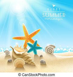 여름, 삽화, 휴일