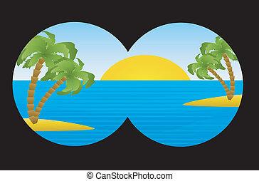 여름, 조경술을 써서 녹화하다, 바다