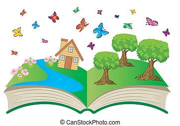 여름, 책, 열려라, 조경술을 써서 녹화하다