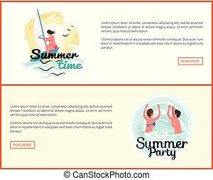 여름, 활동, 사람, 휴가, 휴일, 웹