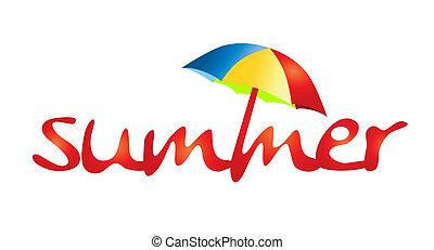 여름 휴가, -, 그늘, 태양