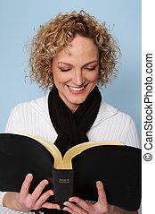 여성 독서, 성경