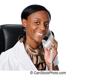 여자 실업가, 나이 적은 편의, 전화