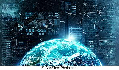 연결, 밖이다, 인터넷, 공간