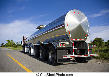 연료, 길, 유조선, 또는, 액체