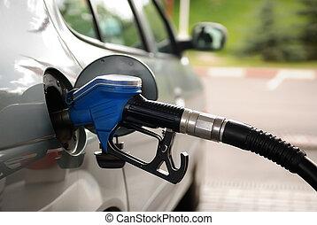 연료, 주유소, 가스