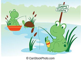연못 개구리