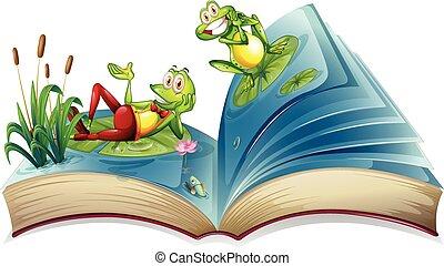 연못, 열려라, 2, 개구리, 책