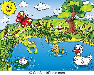 연못, 인생
