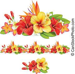 열대 꽃, 화환