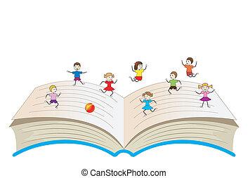열려라, 아이들, 책, 노는 것
