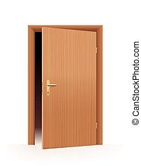 열린 문, 절반