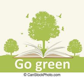 열린 책, 나무 조경