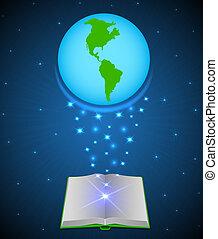 열린 책, 마술, 지구