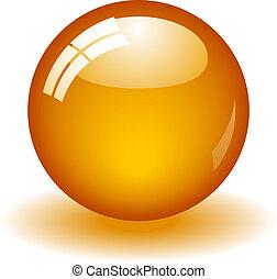 오렌지, 공, 광택 인화