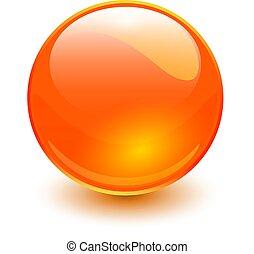 오렌지, 유리, 구체