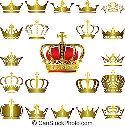왕관, 세트, 삼중관, 아이콘