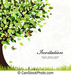 우편 엽서, 나무, 디자인