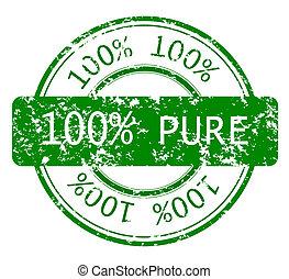 우표, 100%, 생태학, 학문 따위 순수한