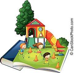운동장, 거인, 책, 노는 것, 아이들