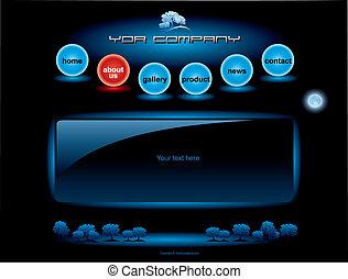 웹사이트, 파랑, 바, 세트, 단추, 구체, 본뜨는 공구