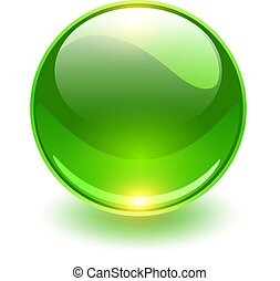 유리, 녹색 구체