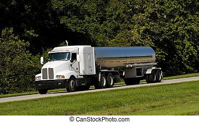 유조 트럭, 수송, 연료