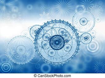 은유, 사업, 구식의, 우주기계론, 시계 장치