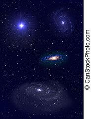 은하, 비어 있는, 공간