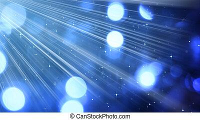 은 돌n다, 파랑, 광선, 빛, bokeh, 배경