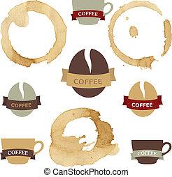 은 얼룩이 진다, 상징, 설정되는 커피