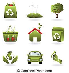 은 재생한다, eco, 녹색, 상징