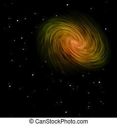은 주연시킨다, 나선, 비어 있는, 은하, space.