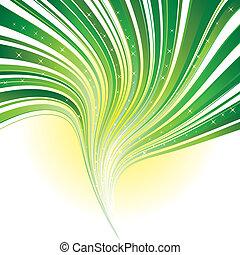 은 주연시킨다, 떼어내다, 녹색 줄무늬, 배경, 소용돌이