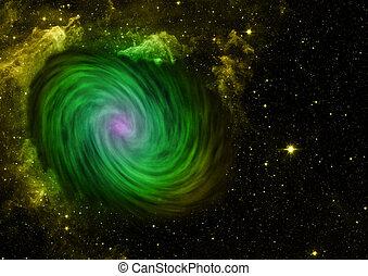 은 주연시킨다, 비어 있는, 은하, space., 나선