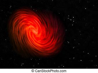 은 주연시킨다, space., 비어 있는, 나선형 은하