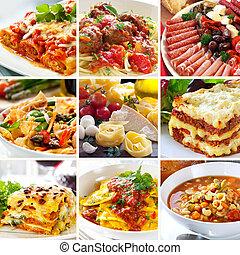 음식, 콜라주, 이탈리아어