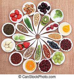 음식, 큰접시, 건강