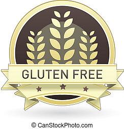 음식, gluten, 비어 있는, 상표