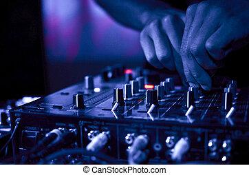 음악, 나이트 클럽, dj