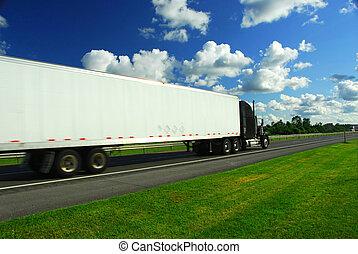 이동하는 트럭, fast