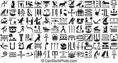 이집트 사람, 상형문자, 1, 구식의, 세트