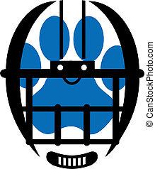 인쇄, 헬멧, 축구, 발